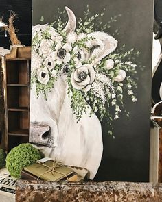 Home Design Drawings Look at our new fancy friend we have in the shop from We enjoy her company, but we know she would look amazing in one of your homes. Cow Painting, Painting & Drawing, Rustic Painting, Cow Drawing, Painting Inspiration, Art Inspo, Farm Art, Cow Art, Arte Pop