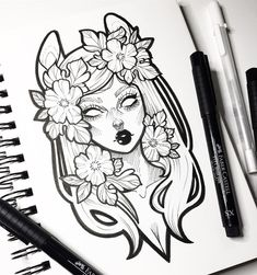 Still keeping up with #inktober (just not posting daily) and loving how these look coloured digitallyI hope you all had a nice Sunday • I had a lovely day spending time with family What did you guys get up to? #graphicartery #sketch #sketchbook #illustration #art #artist #artcollective #wip #myart #instaart #drawing #tattoo #ink #tattoos #floral #occult #witch #instaartist #draw