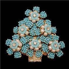Christmas Tree Pin Vintage Rhinestones Brooch Xmas Stanley Hagler Ian St Gielar