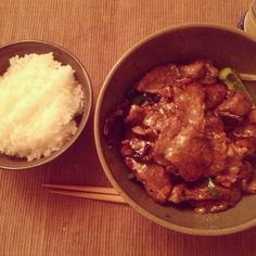 rice & meat with veggies #dinner #food #beef #meat
