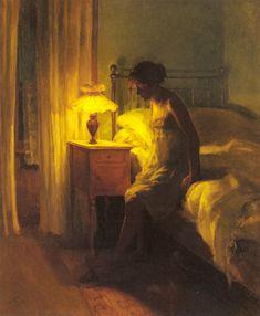 ◇ Artful Interiors ◇ paintings of beautiful rooms - Peter Vilhelm | In the Bedroom