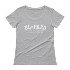 El Paso Texas Vintage Ladies' Scoopneck T-Shirt