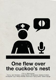 'One flew over the cuckoo's nest' pictogram movie poster by Viktor Hertz (http://www.flickr.com/photos/hertzen/sets/72157625876743038/)