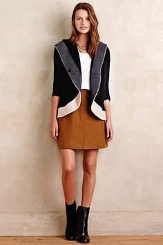 Colorblock Boiled Wool Jacket - anthropologie.com