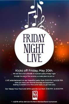 Concert Live Music event flyer poster template | Live Music ...