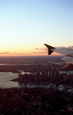 One of the best feelings ever...looking out of an airplane and seeing the City
