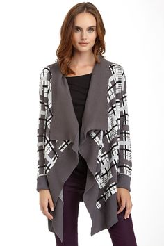 Romeo & Juliet Couture Drape Front Printed Wrap Cardigan by Romeo & Juliet Couture on @nordstrom_rack