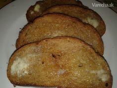 Chrumkavý chlieb zapečeny v rúre - Recept