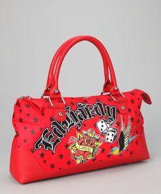 a591d7b0ef Ed Hardy Red Belle Fleurs Lucy Satchel