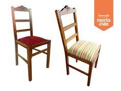 Uma cadeira muito maneirinha, que precisava de restauro e de uma estofagem que lhe desse outro ar. - Restauro para Cliente