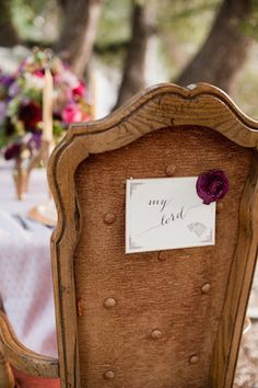 My Lord - reception chair sign  - Game of Thrones wedding ideas | Candice Benjamin Photography | see more on: http://burnettsboards.com/2014/04/game-thrones-themed-wedding-2/