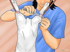 How to skin a rabbit, with and with-out a knife.