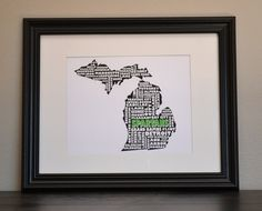 Love this! MICHIGAN STATE SPARTANS Collage Print Customize. $12.50
