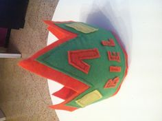 Felt crown 1 year old birthday - Corona de fieltro 1 año - Biel DIY Orange, Green and Yellow Sew