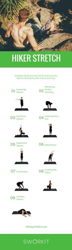 As the weather warms up we go for walks and hikes so why not stretch in the crisp outdoors as well. Want to download our Hiker Stretch workout? Download Sworkit and follow us on social media for the links!