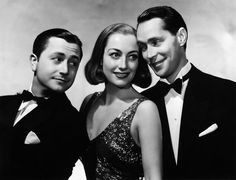 Publicity still of Robert Young as Rudi Pal, Joan Crawford as Anni and Franchot Tone as Giulio.