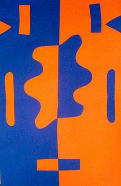 Kids Art Market. Collage. Complementary colors. Matisse. Symmetry. Organic v. geometric shapes.