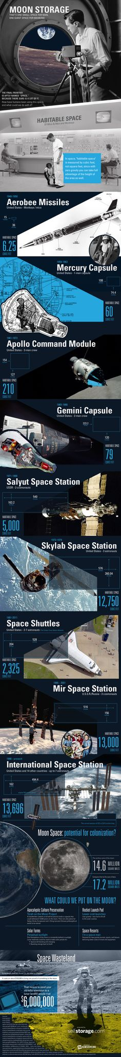 Storing stuff on the moon could be pricey, but vacationing there could be doable.Check out this infographic for more. in Science / Fiction Space Tourism, Space Travel, Monkey In Space, Moon Projects, Self Storage, Space And Astronomy, Our Solar System, Data Visualization, Solar Power