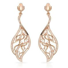 Earrings With Cubic zirconia 14K/925 Gold plated Silver. Total item weight 8.9g Length 48mm Unknown. $138.00. Save 86% Off!