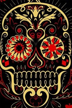 Mexican Skull, via Flickr for possible cross-stitch project