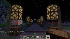 Minecraft Design: Automatic street lamps