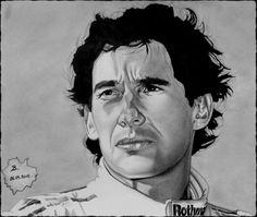 Ayrton Senna, posca, crayons.