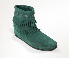 DOUBLE FRINGE SIDE ZIP BOOT (WOMEN) Pine// birthday present from my mom