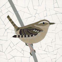 Wren 3 by Robert Field Pebble Mosaic, Wood Mosaic, Stone Mosaic, Mosaic Art, Mosaic Glass, Mosaic Animals, Mosaic Birds, Mosaic Flowers, Mosaic Birdbath