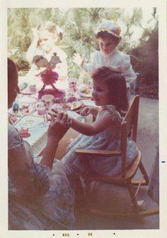Little girls birthday party, 1969 ... I love this photo...little girls all dressed up...just sweet!