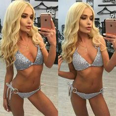93bcea6f17 PACENT 2017 New Arrival Sexy Shiny Gold Green Silver Sequins Bikini Thong  Set