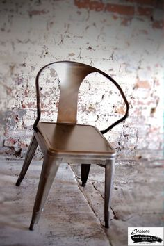 BRONZE METAL TABOURET CHAIRS - ARMS