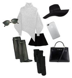 """"" by ricciardi-martina on Polyvore featuring moda, Max&Co., Givenchy, STELLA McCARTNEY, San Diego Hat Co., Ray-Ban e Hermès"