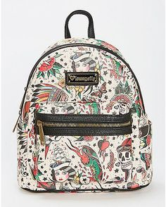Loungefly Tattoo Mini Backpack - Spencer s. School BagsCool ... f33bcad260555