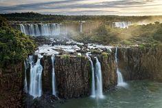 The stunning Three Muskateers Falls at Iguazu Falls, Argentina.