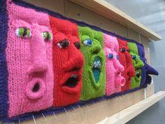 Exhibit in melbourne, australia by fiber & textile artist, annette fitton aka 'nini' of nini & wink - seen on: Crochet Me Lovely - makinology: amazing !… exhibit in melbourne,. by lourdes Knitting Yarn, Knitting Patterns, Crochet Patterns, Floral Patterns, Textile Patterns, Form Crochet, Crochet Art, Sculpture Textile, Knit Art