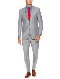 Kings Solid Suit by Ben Sherman Suiting at Gilt Ben Sherman, Suit Jacket, Trousers, King, Legs, Suits, Long Sleeve, Sleeves, Jackets
