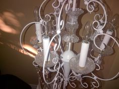The white paint rescue chandelier $60, Item #ML-1019, in stock  http://www.findandtreasure.com/catalogue