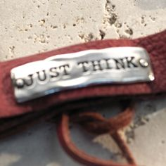 """Just Think Red Leather Bracelet 8"""" Adjustable leather bracelet."""