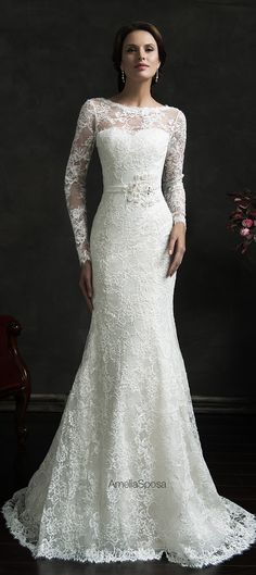 Amelia Sposa 2015 Wedding Dress - Novia - Belle The Magazine this is the front of the dress.