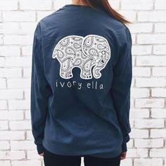 5d14f96fc Ivory Ella Elephant Galaxy Long Sleeve Tee