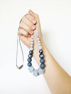 High style silicone teething necklaces by MODFRESH. www.modfreshstyle.com