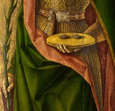 Carlo Crivelli, Saint Lucy, (detail) , ca. Santa Lucia, Italian Renaissance, Renaissance Art, Close Up Art, Losing My Religion, National Gallery, Group Art, Old Paintings, Traditional Paintings