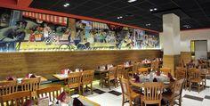 Mostaza design | Italian restaurant | Madrid | Da Nicola | Illustrations by David de Ramón | #mostazadesign #restaurant #madrid #interiordesign #interiors #italianfood #illustration #davidderamon