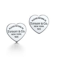 Tiffany & Co Engraved Cheap Sale Heart Earring