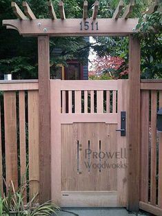 put house numbers on the pergola over sitting area in front of dining room windows Backyard Gates, Garden Gates And Fencing, Garden Doors, Outdoor Pergola, Backyard Pergola, Metal Pergola, Pergola Kits, Pergola Ideas, Backyard Projects