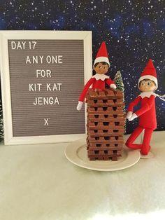 Jenga, Christmas Elf, All Things Christmas, Christmas Carol, Christmas Letters, Christmas Kitchen, Christmas Crafts, Der Elf, Elf Auf Dem Regal