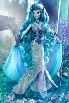 2016 Water Sprite Barbie (Faraway Forest Collection) designed by Bill Greening. GOLD LABEL. No more than 4800 dolls produced worldwide. The fourth doll in the collection embodies the ephemeral beauty of her home, the Magical Lagoon™.