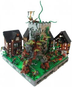 Elemental Attack on Avalonia: A LEGO® creation by Z Cerberus : MOCpages.com