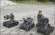 SWORDS combat robots (Photo: DoD) - The Pentagon looks at the next 25 years of military robots - via GIZMAG