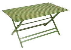 Green Metal Folding Rectangular Garden Table 170cm